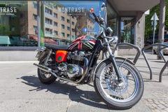 Classic Triumph Motorcycle Stock Photos