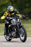 Classic Triumph at speed Royalty Free Stock Image