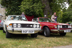 Classic Triumph Stag cars Royalty Free Stock Photos