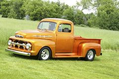Classic truck. Picture of custom classic pickup truck - 1951 ford f-150 stock photography