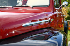 Classic truck detail. A close detail of a Classic pick-up truck royalty free stock image