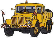 Classic truck. Old towing truck, vector illustration, hand drawing Vector Illustration