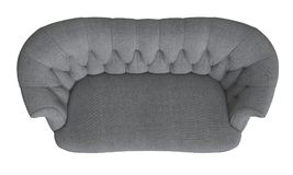 Classic tufted sofa isolated on white background.Top view. Classic tufted sofa isolated on white background.Digital illustration.3d rendering.Top view Stock Photography