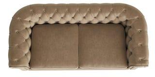 White Sofa On White Background, Top View Stock ...