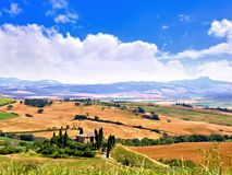 Classic Tuscan landscape Stock Photos