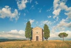 Classic Tuscan views around Pienza, Italy Royalty Free Stock Image