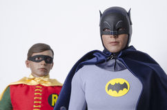 Classic Tv Show Batman and Robin Hot Toys Action Figures Royalty Free Stock Image