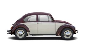 Classic two-color VW Beetle Stock Image