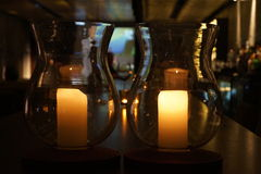 Classic Burning Candles Royalty Free Stock Images