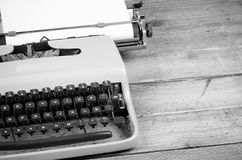 Classic typewriter ready for action Royalty Free Stock Images
