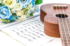 A classic ukulele on white background Royalty Free Stock Photography
