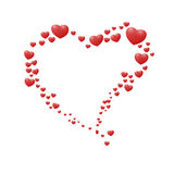 Classic valentines hearts Royalty Free Stock Photo