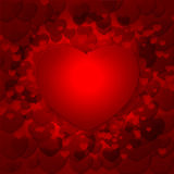 Classic valentines hearts Royalty Free Stock Images