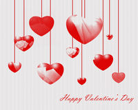 Classic valentines hearts Royalty Free Stock Image