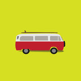 Classic Van. With yellow background Stock Image