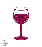Classic vector goblet, stylish alcohol theme illustration. Lifes Stock Photo