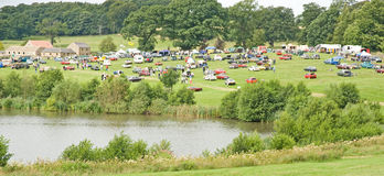 Classic Vehicle Rally at Ripley Castle. Stock Image
