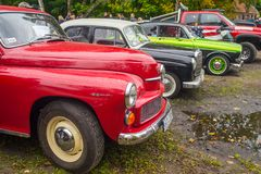 Classic vehicles at a car showe stock photography