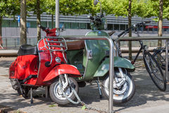 Classic Vespa scooters Royalty Free Stock Photo