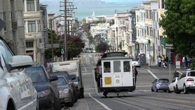 San Francisco North Beach and Cable Car stock footage