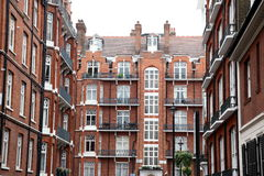 Classic victorian house in London, Baker Street, UK Royalty Free Stock Images