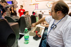 Classic videogames at games week 2014 in Milan Stock Photo
