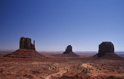 Classic View. One of the classic views to the Monument Valley Stock Images