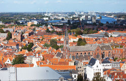 Classic view of Bruges. Stock Photo