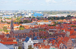 Classic view of Bruges. Royalty Free Stock Images