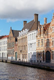 Classic view of channels of Bruges Royalty Free Stock Photos