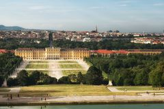 Famous Schonbrunn Palace, Vienna, Austria royalty free stock photos