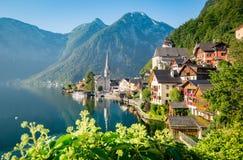 Classic view of Hallstatt in summer, Austria