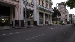 Havana street. Classic view with old cars from the Havana streets stock video footage