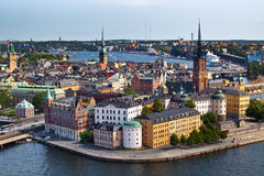 Classic view of Stockholm, Sweden Stock Images