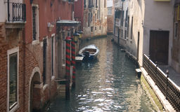 A classic view of Venice. With canal and old buildings, Italy Royalty Free Stock Photography