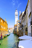 Classic view of Venice, Italy. Classic view of Venice with canal and old buildings, Italy stock photography