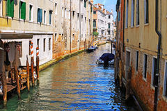 Classic view of Venice, Italy. Classic view of Venice with canal and old buildings, Italy royalty free stock photos