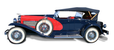 Classic Vintage Automobile Duesenberg- isolated royalty free stock images