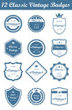 12 Classic Vintage Badges (Blue). This is a nice, simple and elegant set of classic vintage badges suitable for your graphic and web projects. They are fully royalty free illustration