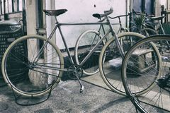 Classic vintage bicycle stock images