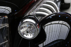 Classic Vintage Black Car. Front angle view of classic black vintage sports car Stock Photography