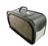 Classic vintage black suitcase Royalty Free Stock Photography