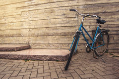 Classic Vintage Blue Bicycle Stock Image