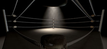 Classic Vintage Boxing Ring Corner Stock Photography