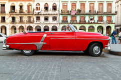 Classic vintage car in Havana Royalty Free Stock Images