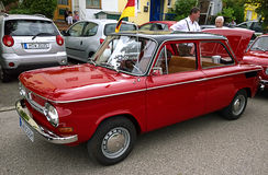 Classic vintage car NSU Prinz produced in Germany Royalty Free Stock Images