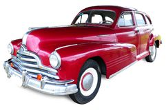 Classic vintage car. Picture of an isolated Classic red vintage car Stock Photo