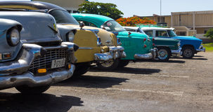 Classic vintage cars in cuba Royalty Free Stock Images