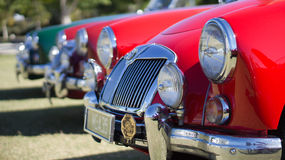 Classic vintage cars on display Royalty Free Stock Photography