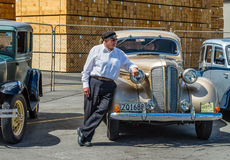 Classic vintage 1937 Dodge Six car at Napier, Hawkes Bay in New Royalty Free Stock Photos